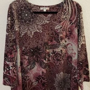 Embellished plus size top